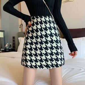 【bottoms】千鳥格子タイト素敵なデザインスカート 24639213