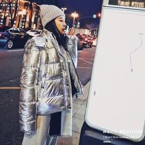 【アウター】韓国系フード付き無地切り替え暖かい綿入れコート25348345