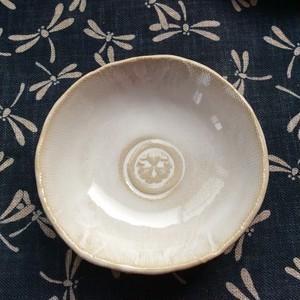 豆皿(丸に久枚笹)<大>