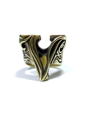 alphabet ring#V (Brass ・ 真鍮) -アルファベットモチーフ リングV-