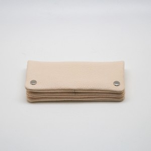 Yezo deer soft wallet tanned natural