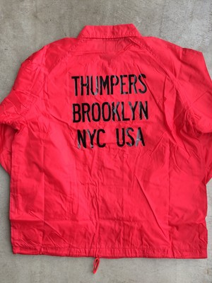 [ THUMPERS NYC ] LOGO COACHES JACKET