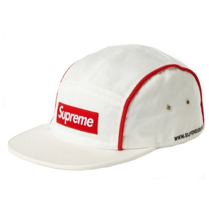 確保!Supreme 2018AW Piping Camp Cap (White) *当日発送可能
