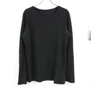 Y's / ワイズ | 2021SS | Yohji Yamamoto 強撚天竺ロングスリーブTシャツ | 2 | ブラック | レディース