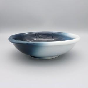 砥部焼 ヨシュア工房 平鉢(中) 内青