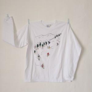 スキー長Tシャツ ホワイト