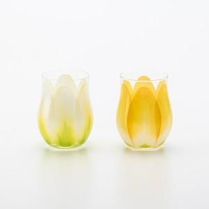 Tulip Glass 2pcs Set ホワイト/イエロー[0130212885]
