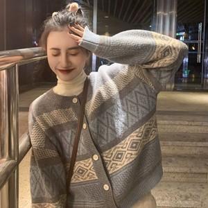 【配送優先】【アウター】合わせやすいオシャレ長袖韓国ファッションカーディガン26680593