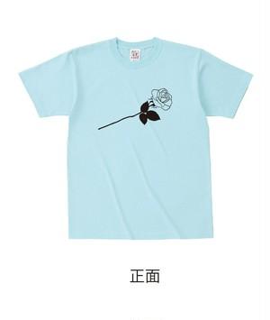 ★受注販売★ 復刻「ROSE」セミオーダーT-shirts [ボディカラー:アクアブルー] (7月下旬から順次発送開始予定)