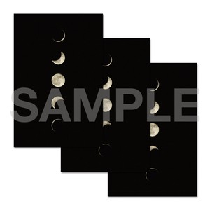 月のポストカード 3枚セット〈5MOON〉