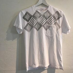 Engineered Garments(エンジニアド ガーメンツ)2017SS Printed Cross Crew Neck T-shirt-St.Diamond