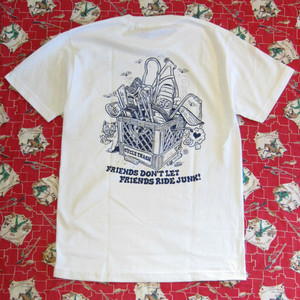 "Cycle Trash 20th anniversary ""Pocket"" T-shirt - White - by Burrito Breath"