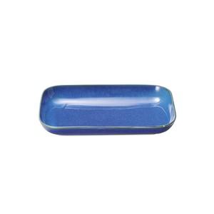 「群青 Gunjo」パスタ/ピラフ 長角 プレート 皿 大 約31×20cm ネイビー 美濃焼 288013