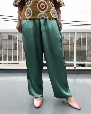 Vintage metalic moss green pants ( ヴィンテージ  メタリック モスグリーン パンツ )
