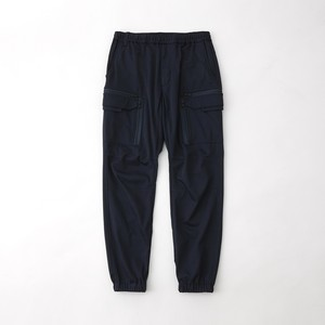 TWILLED JERSEY CARGO PANTS - NAVY