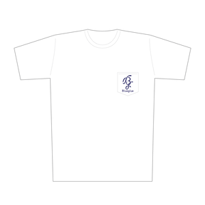 Bg Pocket Tee(White/Navy)