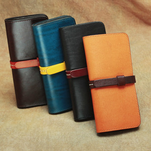 Vintage Leather Long Purse Classic Wallet ロング クラシック レザー 天然 (YYB0-7391236)