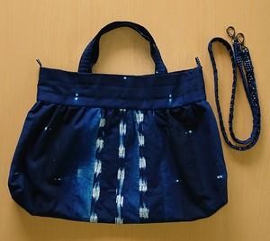 ◆2ウェイバッグ◆本藍染手作りバッグ