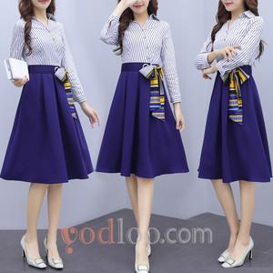 【bottoms】韓国風ファッション女性らしさをUPワンピース