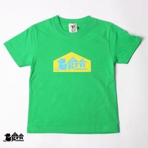 5.6ozテンジク ベーシックロゴS/S TEE KIDS (GREEN) GOK101