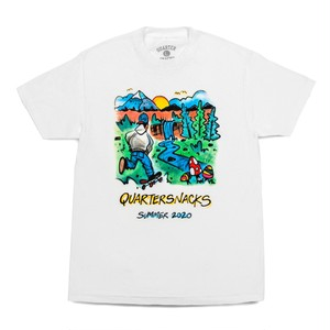 QUARTERSNACKS / SUMMER CAMP TEE -WHITE-