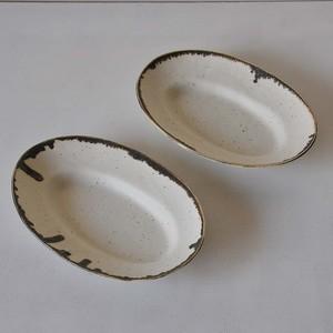 KODAMA TOKI MY DISH Oval Plate Brown 28cm
