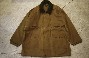USED FILSON TIN CLOTH PACKER COAT -Large J0704