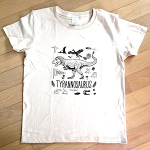 Tシャツ「恐竜」ライトベージュ