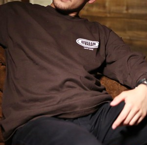 CIRCLE LOGO L/S TEE(Brown)
