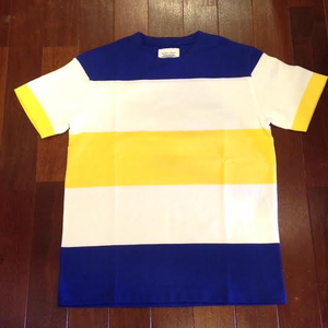 FIDELITY / フィデリティー | WIDE BORDER TEE - White/Royal/Yellow