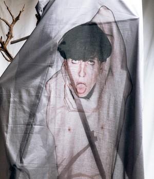 JOE CHIA - Unisex woven printed scarf - SC01BG