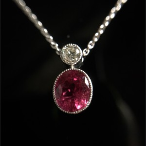 Ruby &Diamond  Platinum Pendant