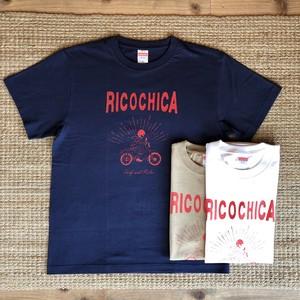【Ricochica】手書き風バイクガールシリーズ SHOP Tシャツ