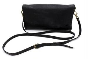 Yezo deer shoulder bag wallet tanned black