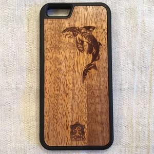 【 シャーク 】ハワイ産 スマホカバー 【 Pono Woodworks 】 ハワイアン コアウッド  スマホケース