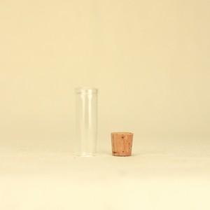 一輪挿し用ガラス瓶(直径12mm・コルク付き)