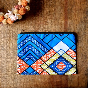 マラウィ産 アフリカ布のポーチ 05 【送料無料】