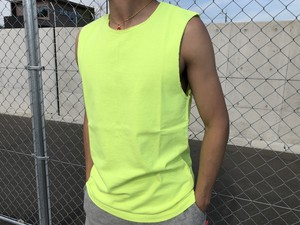ThreeArrows Cut-off Sleeveless(neon yellow)