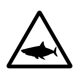サメ注意のカッティングステッカーシール