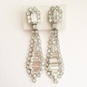rhinestone dangle earring[e-806]