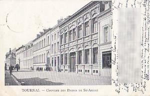 古絵葉書エンタイア「トゥルネー」(1902年)
