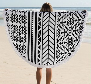 限定25枚 Round Beach Towel Black