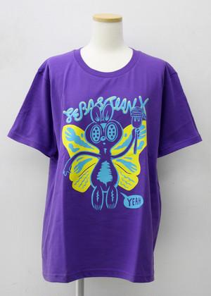 アゲハ蝶々 Tシャツ (パープル)