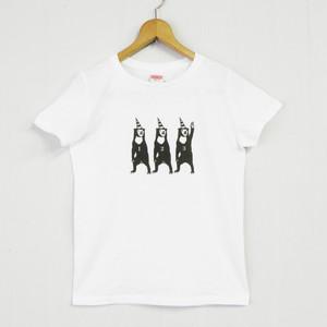 マレーグマTシャツ(白/インク黒)