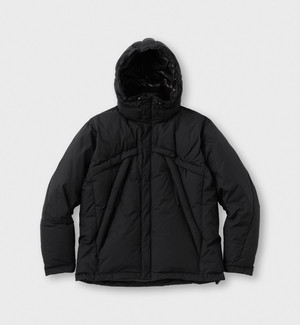 "WISLOM""HOOD DOWN JACKET JOHNY <ROGA> BLACK"""
