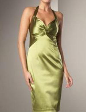 E-43 David Meister / Stretch Halter Dress