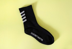 ℃℃℃ border 文字socks  Black