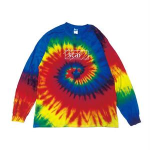 scar /////// OG TIE DYE L/S TEE (Reactive Rainbow)