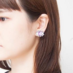 Medama Pierces / Earrings(S) -lavender-