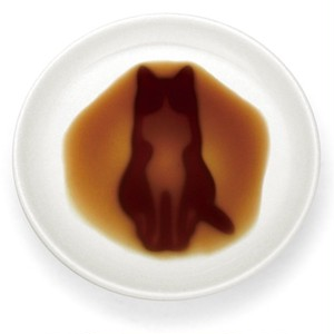 ★既製品★ネコ醤油皿「すわる」